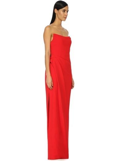 Oscar de la Renta Elbise Kırmızı
